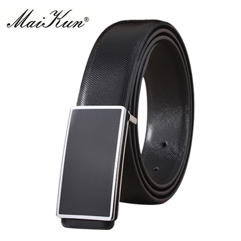 Maikun PU Leather Belts For Unisex Designer Brand Luxury Belt For Men Women High Quality Belt For Jeans