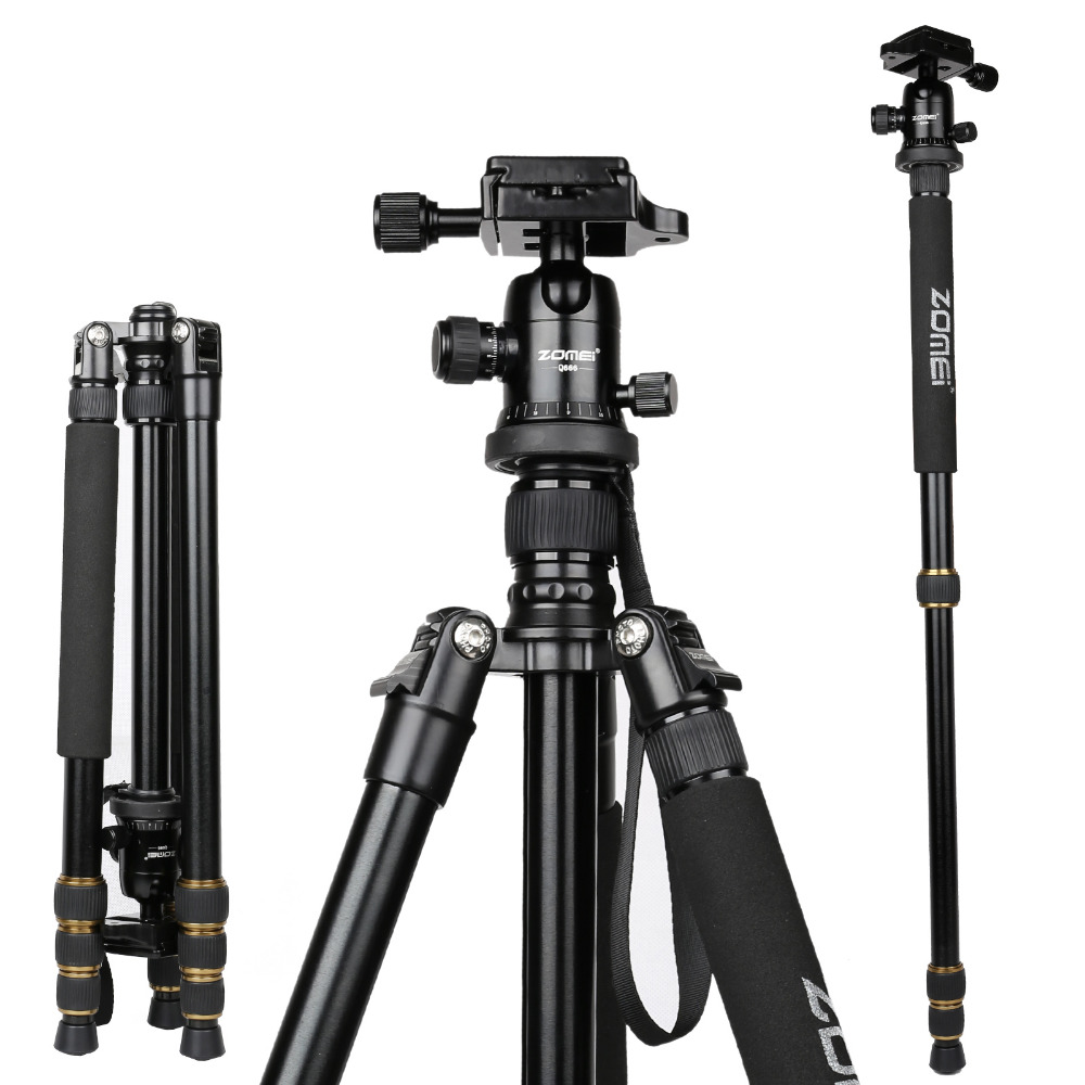 Zomei Lightweight Portable Aluminum Detachable Monopod Heavy duty Professional Camera Tripod & Ball head for SLR digital camera zomei z888 portable stable magnesium alloy digital camera tripod monopod ball head for digital slr dslr camera