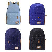 Модные женские туфли холст точка школьная сумка обувь для девочек удобный рюкзак для путешествий рюкзак сумки на плечо