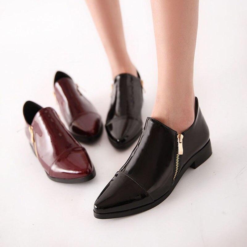 Moda de charol en punta del dedo del pie puntiagudo de las mujeres de - Zapatos de mujer - foto 5