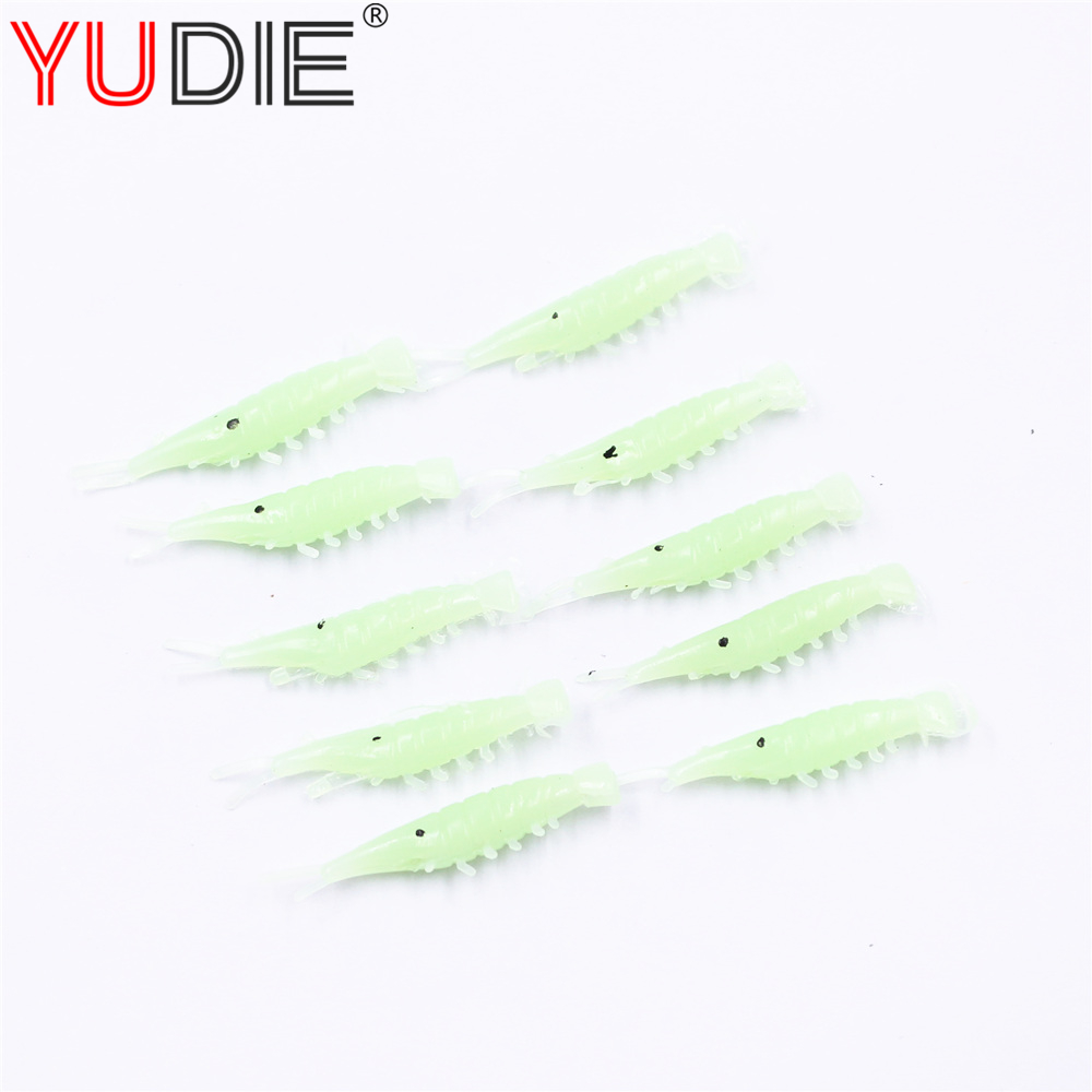 10pcs Green Realistic Shrimp Soft Lure For Sea Carp Fly Fishing Spinner Bait Accessories Jig Hook Tool Wobblers Fish Sport lures 50pcs new wifreo soft lure loader locker connector fishing worm hook bait accessories for bass fishing wholesale