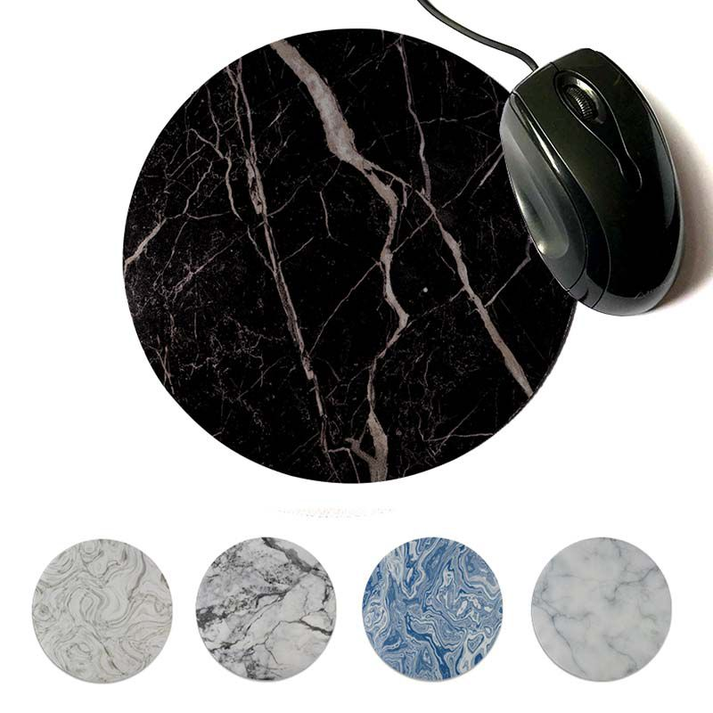 MaiYaCa Personalized Cool Fashion Marble Unique Desktop Pad Game Mousepad 200x200mm 220x220mm Round Mouse Pad