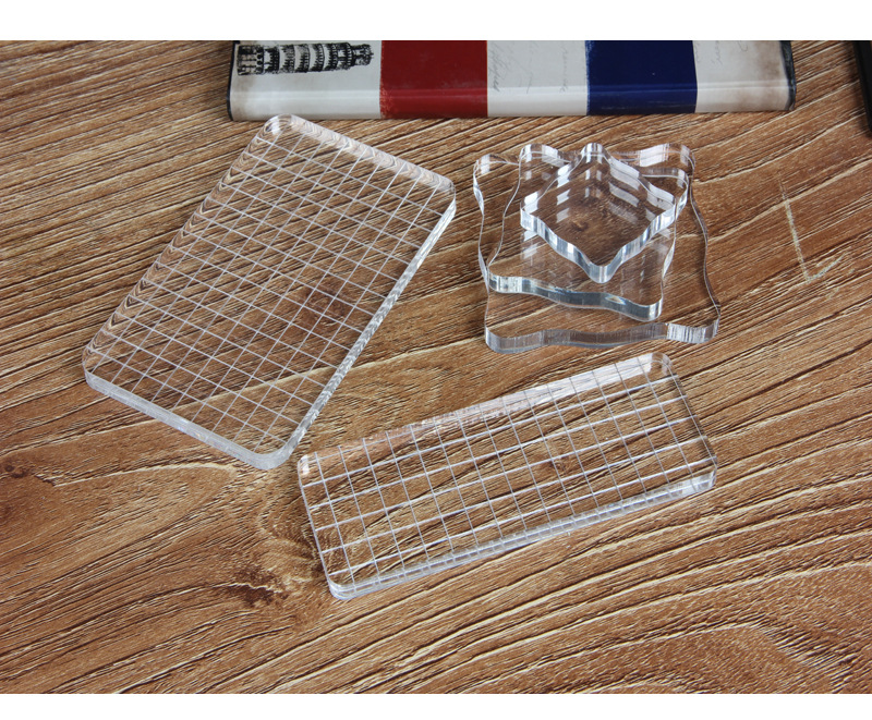 New transparent silica gel stamp rubber clear acrylic for Plastic blocks for crafts