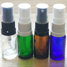 10ml Green/Blue/Amber/Clear Glass bottles with plastic sprayer or Lotion pump! if you order over 336pcs, price 10%off !