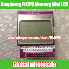 Raspberry Pi CPU Geheugen Mini LCD 84*48/PCD8544 Shield Voor Raspberry Pi Model B +/B(China)