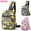 Hot Sale Waterproof Nylon Small Cute Cartoon Pokemon Single Shoulder Backpack Chest School bag Pack Purse For Kids Boys Girls