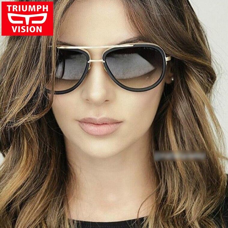TRIUMPH VISION De Luxe Marque Femelle lunettes de Soleil Dames Pilote  Conduite Lunettes de Soleil Pour Les Femmes Designer Lunette Cool Oculos  Nuances 0011dd2af5e0