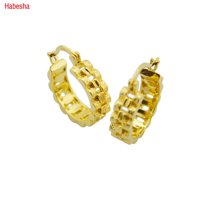 2017 New Arrival 18k Gold Plated Earrings Simple Design Jewerly Small Clip Women Best Gift