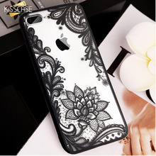 KISSCASE Sexy Lace Flower Case For iPhone 5 5s Cases 3D Floral Cover For iPhone 6 6s 7 8 Plus 5s 5 SE Back Patterned Funda Coque protective 3d celestial bodies patterned plastic back case cover for iphone 6 blue black