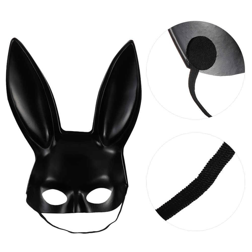 1pc נשים באני ליל כל הקדושים המפלגה Masquerade קוספליי תלבושות ארנב אוזני בעלי החיים מסכת נכס בגימור נשים גברים שיער אבזרים