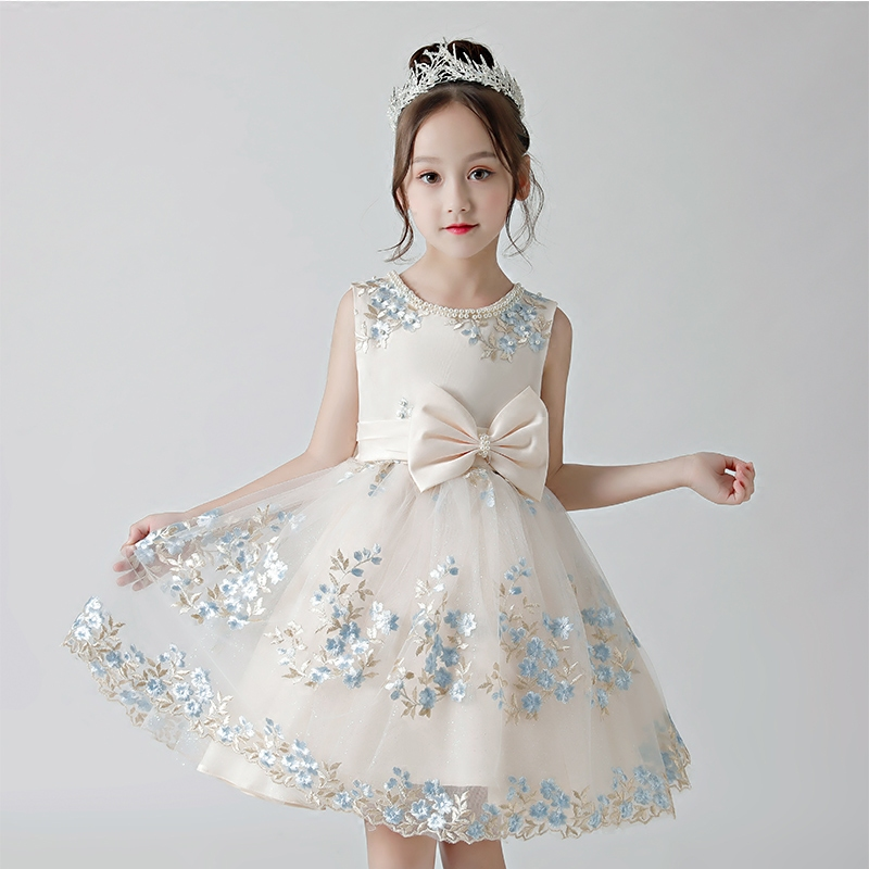 2018 Summer New High Quality Children Kids Infant Birthday Evening Party Embroidery Flowers Dress Babies Hand-made Beading Dress2018 Summer New High Quality Children Kids Infant Birthday Evening Party Embroidery Flowers Dress Babies Hand-made Beading Dress