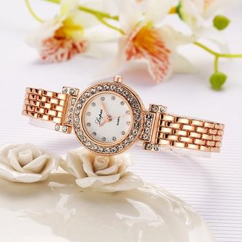 Модные Браслет Часы Женские Наручные Золото Имитация Алмазный легированные Наручные Часы Женские Модыне Роскошные Часы Кварцевые