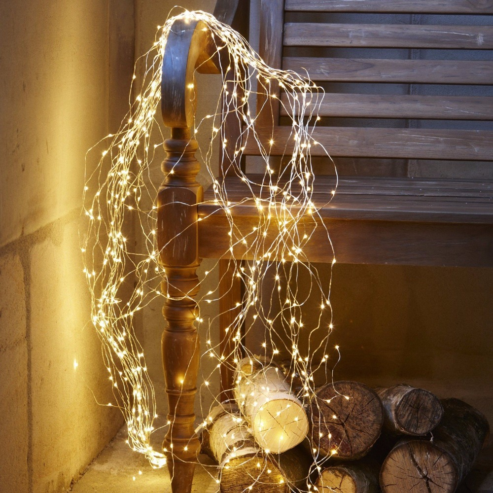 100 LED Battery Operated Fairy Lights, Rustic Wedding Centerpiece Room Decor, Party, Garden, Indoor Outdoor Copper String Lights