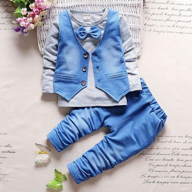 9e615f1ed 2018 Menino roupas de bebê primavera outono conjunto cowboy para meninos  infantis desgaste do bebê roupa