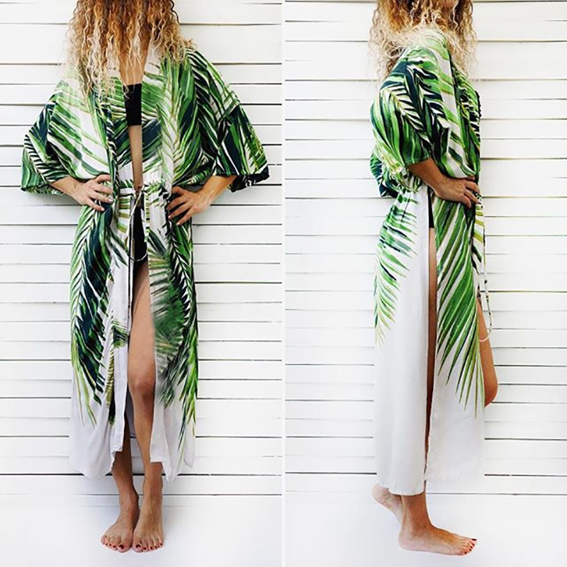Cotton Beach Cover up Print Bathing suit cover up Swimwear Women Kaftan Robe de Plage Saida de Praia Tunics Pareo