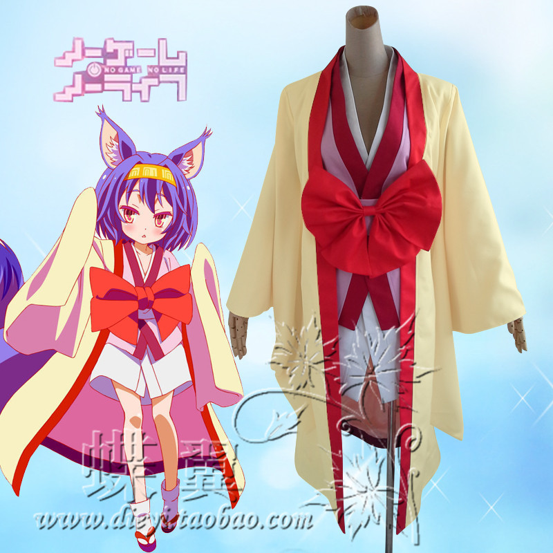 no game no life Hatsuse Izuna Party Kimono Dress Uniform Cosplay Anime Costume Free Shipping