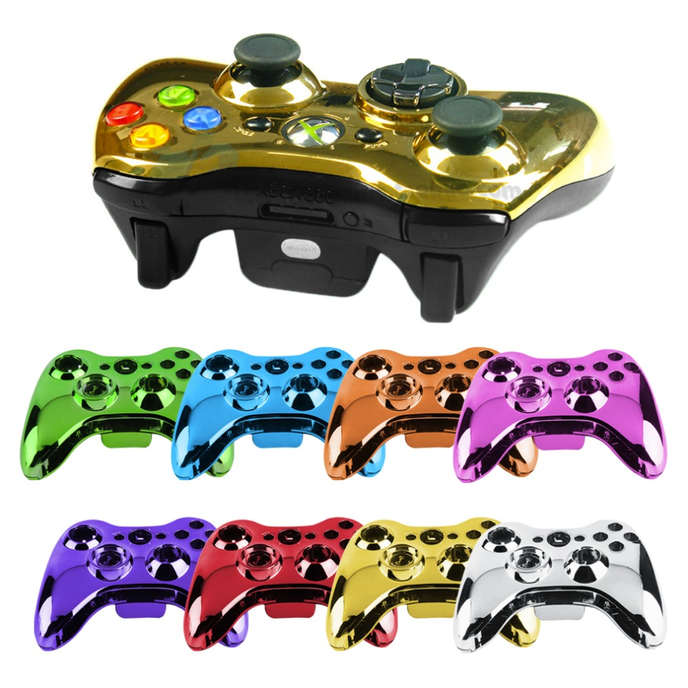 New 1 pcs 100% Wireless Controller Shell Case Bumper Thumbsticks Buttons Game for Xbox 360 Digital In Stock Wholesale