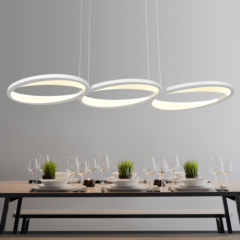 LICAN Free Shipping Remote Dimming Modern Led Pendant Light Led Pendant Lamp Aluminium 90-265V Suspension Lamp for Dinning Room free shipping modern led pendant light d80cm pendant lamp clear crystal stainless steel 90 265v suspension lamp dinning pendant