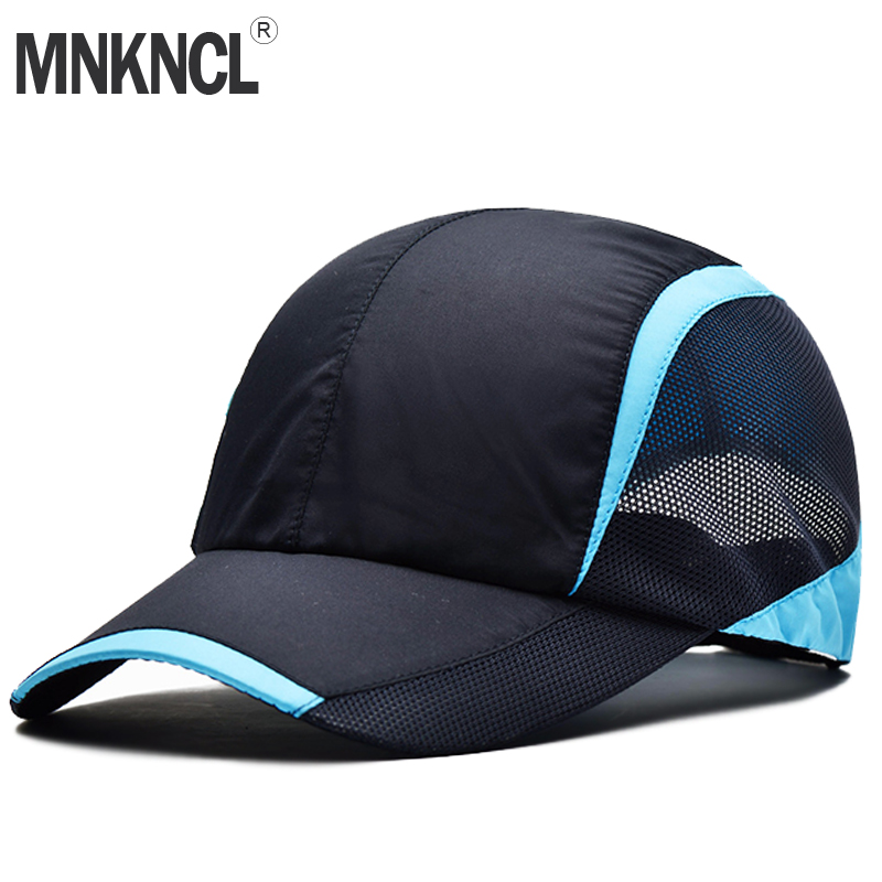 f31556b07d2 MNKNCL Summer Baseball Cap Quick Dry Cooling Sun Hats Flexfit Sports Caps  Mesh Hat For Golf