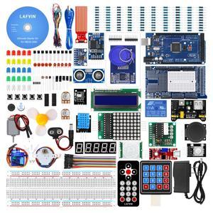 Image 1 - LAFVIN Mega 2560 Kit completo de iniciación, incluye LCD1602 IIC/Sensor ultrasónico para Arduino con Tutorial