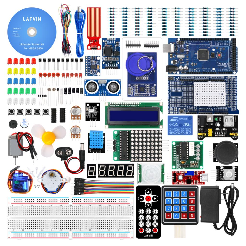 US $44 45 22% OFF|LAFVIN Mega 2560 Project Complete Starter Kit including  LCD1602 IIC,Ultrasonic Sensor for Arduino with Tutorial-in Integrated