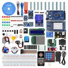 LAFVIN Mega 2560 proje komple başlangıç kiti dahil olmak üzere LCD1602 IIC/ultrasonik sensör ile Arduino için eğitimi