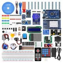 LAFVIN MEGA 2560 projekt najbardziej kompletny Starter zestaw do Arduino Mega2560 Nano z LCD1602 IIC/czujnik ultradźwiękowy/samouczek