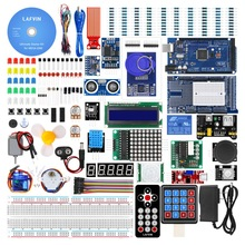 LAFVIN Mega 2560 Project Complete Starter Kit including LCD1602 IIC,Ultrasonic Sensor
