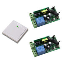 AC 85 250V Remote Control Switch 1CH Relay Receiver Wall Pannel Transmitter Remote Home Room Stairway