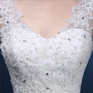 Image 5 - ZJ9054 Corset 2019 Lantejoulas contas de Cristal Do Laço Do Marfim Branco Chiffon Vestidos de Casamento para noivas plus size maxi formal tamanho 2  26 W