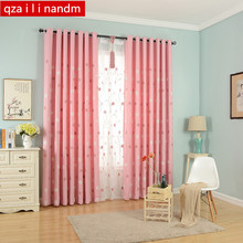 Floral Embroidered Pink Curtains for Living Room Princess Window Curtains for Bedroom Curtains for Children Window Treatment