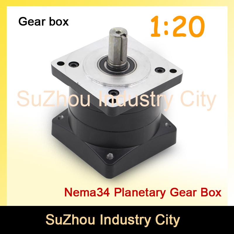 1:20 Nema34 stepper Motor Planetary Reduction Ratio 1:20 planet gearbox 86mm motor speed reducer, High Torque high quality !! цена и фото