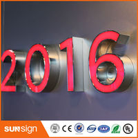 Wholesale frontlit letters light waterproof acrylic LED letters sign