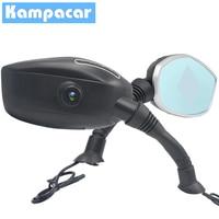 Kampacar Motorcycle DVR With Tow Cameras Rear View Mirror Auto Video Car Dash Cam Camera registrator for Motorcycle Recorder Dvr