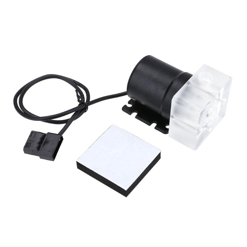G1/4 Inner Thread Water Cooling Pump 4pin Super Silent Transparent Acrylic Waterproof Bump for Computer PC Water Cooling System