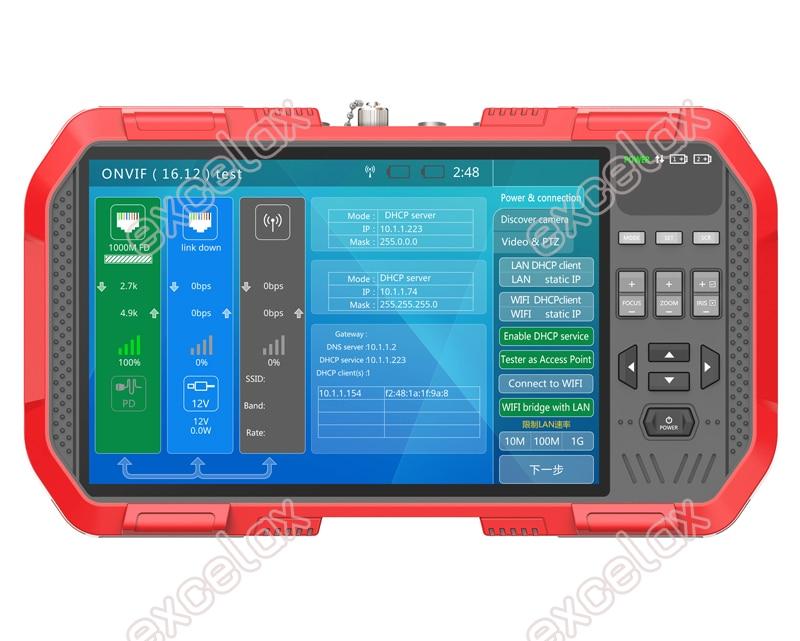 "Image 4 - Full functional 5 In 1 IP AHD TVI CVI CVBS Analog Camera CCTV Tester 7"" Touch Screen 4K 8MP WiFi ONVIF TDR Optic Multimeter TestCCTV Control System   -"