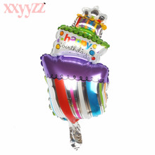 XXYYZZ HAPPY BIRTHDAY Aluminum Foil Balloons Helium Balloons Birthday Party Decoration Celebration Supplies Cake Candle Design the avengers toys baloon ballons helium foil balloons party supplies superhero birthday party decoration avengers balloons
