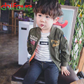 2016 Hot Selling New Spring Autumn Baby Boys Jackets O-neck Long Sleeve Fashion Kids Outerwear Zipper Coat Casual Boys Clothing