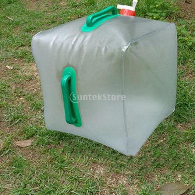 20L Outdoor Camping Folding Collapsible Drinking Water Water Carrier ...
