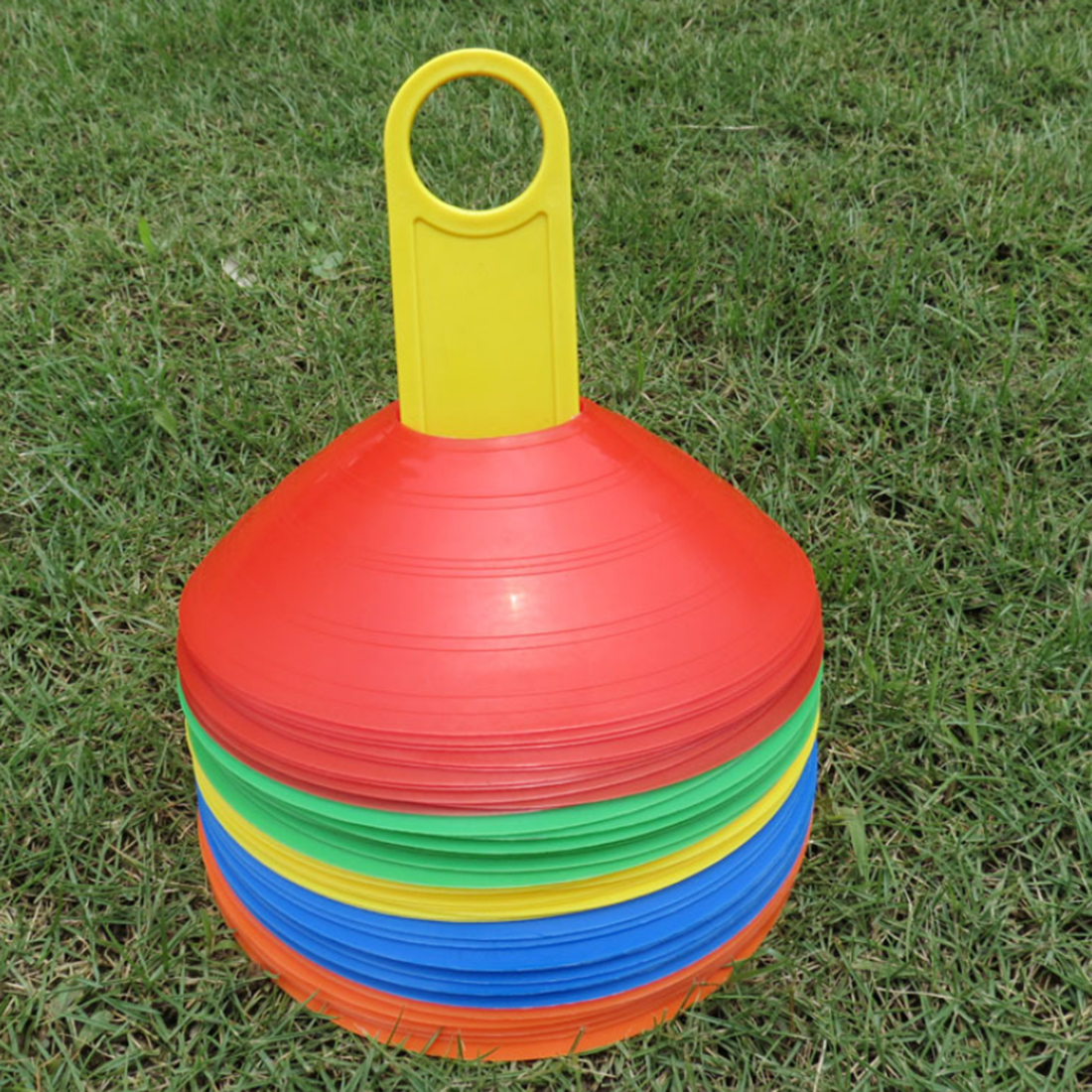 20Pcs Football Training Accessories Marker Discs Flexible Soccer Obstacle Cone Cross Roadblocks - Multicolor