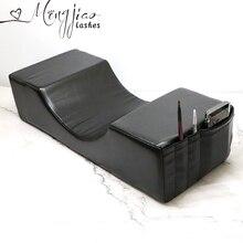 Almohada extensora de pestañas profesional, soporte de almohada pestañas injertadas uso en salón almohada de terciopelo de memoria para extensión de pestañas