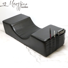プロまつげ extensionl 枕、枕スタンド移植されたまつげサロン使用メモリベルベット枕まつげエクステンション用