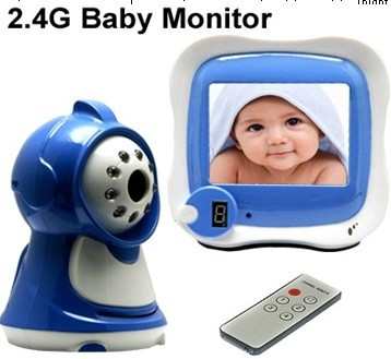 HTRAYS New Wireless Baby Monitor receiver with built-in microphone, IR camera ,remote control
