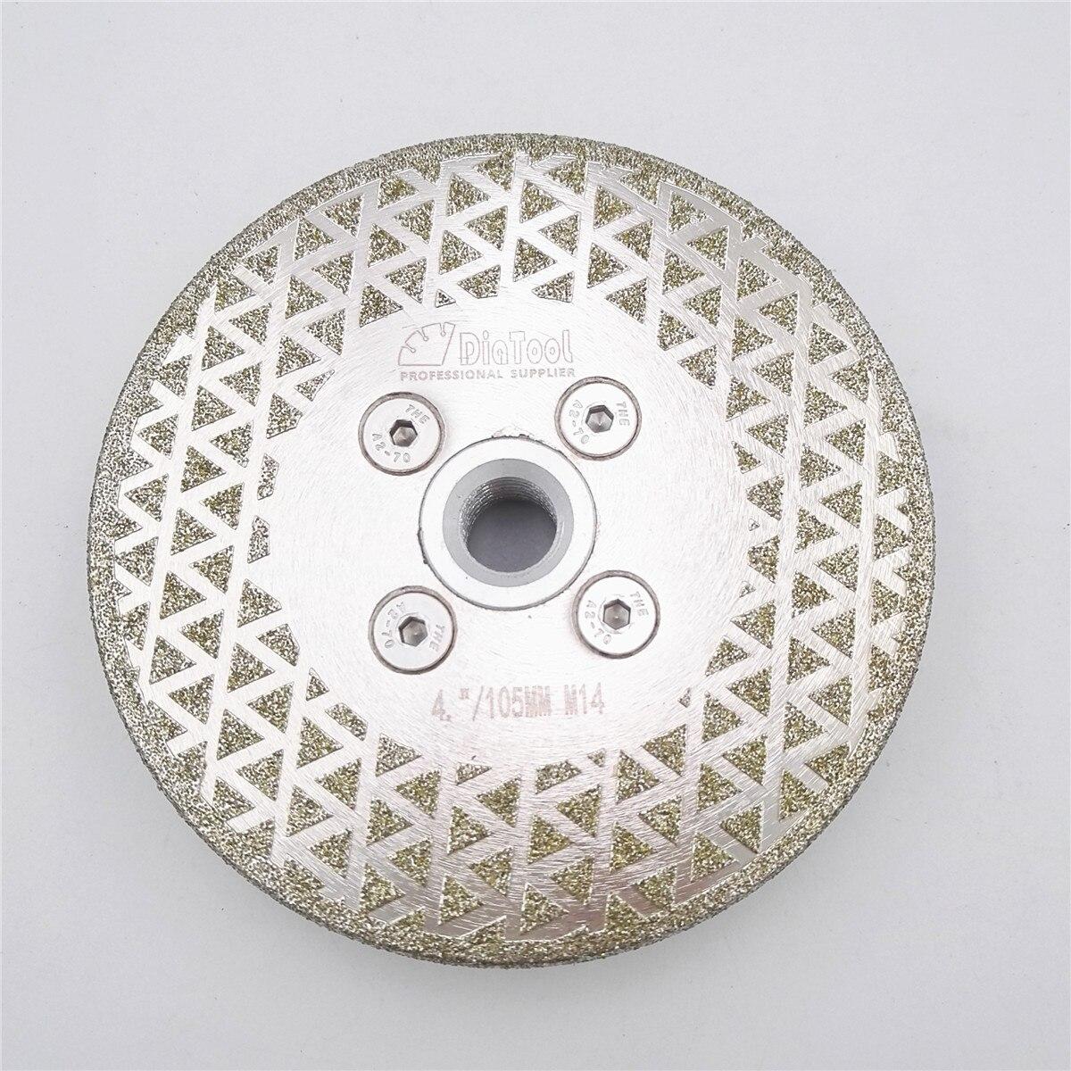 DIATOOL 1pc Electroplated Diamond Cutting & Grinding Blade M14 Thread Marble Single Side Coated Diamond disc