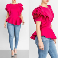MUXU Summer ruffle Skirt Short Sleeve fashion woman clothes streetwear casual tunic tops summer top vogue korean fashion tshirt