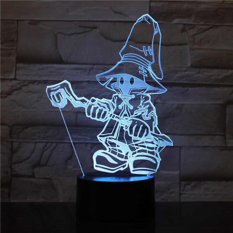 Game FINAL FANTASY IX Night Light LED Touch Sensor Decorative Lamp Birthday Holiday Festival Gift VIVI Ornitier 3D Table LampGame FINAL FANTASY IX Night Light LED Touch Sensor Decorative Lamp Birthday Holiday Festival Gift VIVI Ornitier 3D Table Lamp