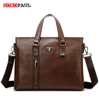 ZOROPAUL 2017 Men S Fashion European And American Style Tote Business Shoulder Top Handle Men Briefcase