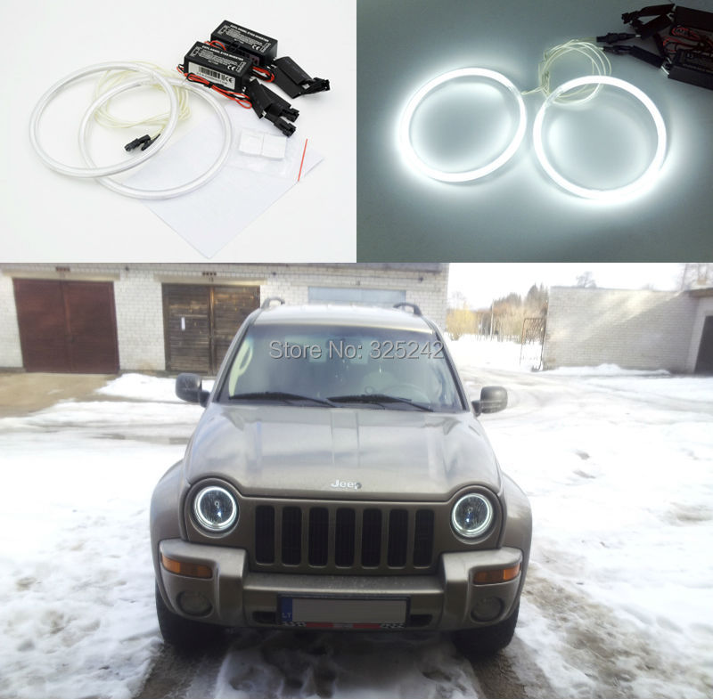For jeep liberty kj 2002 2003 2004 excellent angel eyes ultra bright illumination ccfl angel for 2004 jeep liberty interior accessories