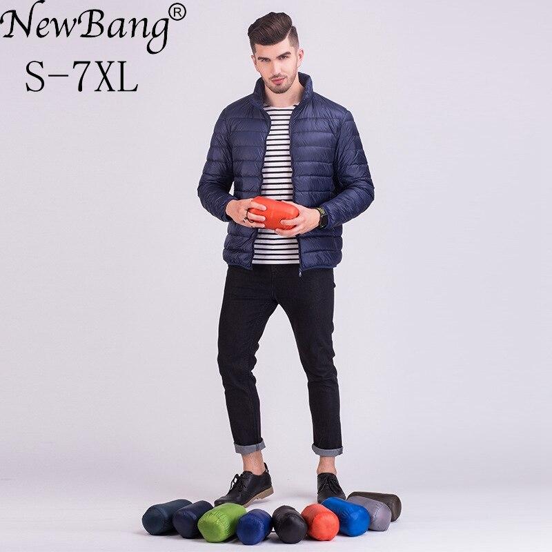 NewBang Brand 6XL 7XL Plus Winter Jacket Men Ultra Light   Down   Jacket Men Larger Size Windproof Lightweight Portable Warm   Coats