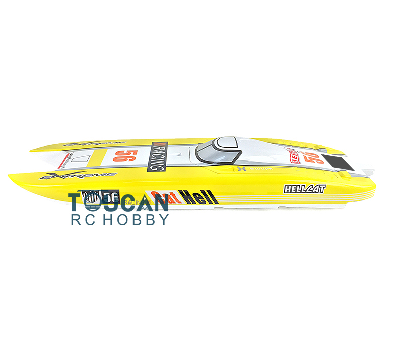 KIT E51 Fiber Glass 1.3m Well-painted Boat Hull only for Advanced Player Yellow цена